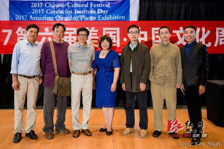湘乡工笔画家曾建明作品参展2017第六届美国・中国文化周