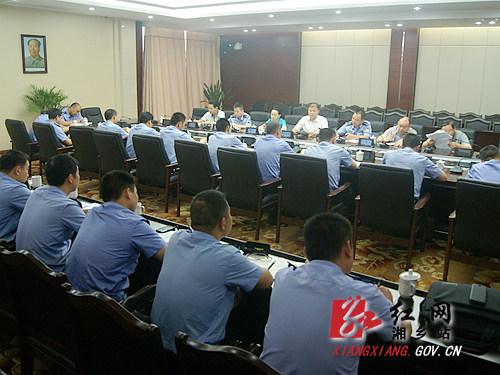 胡海军与全市基层派出所长座谈_湘乡网