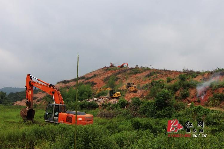 湘乡殡葬服务中心项目一期工程——公墓山开工建设