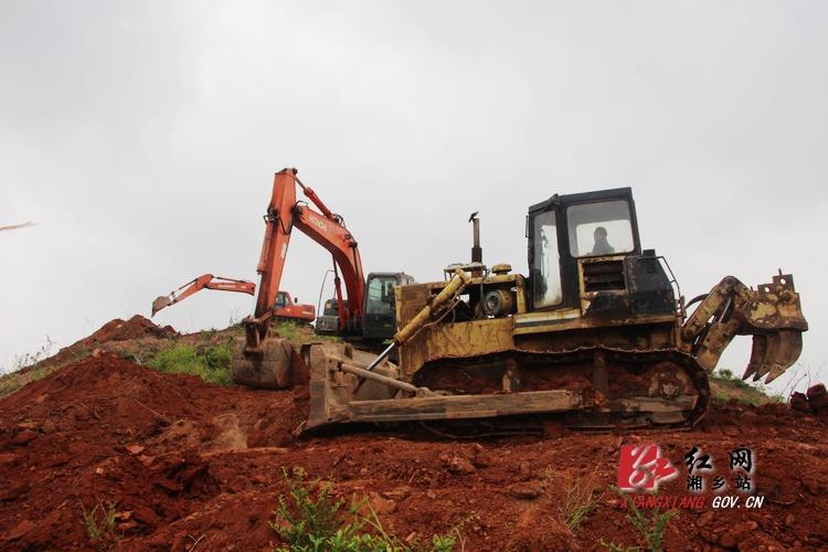 湘乡殡葬服务中心项目一期工程――公墓山开工建设