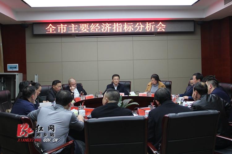 周俊文主持召开全市主要经济指标分析会