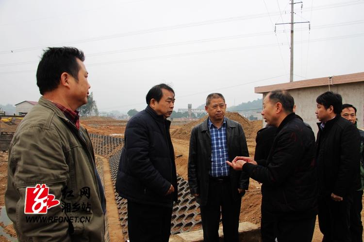 湘潭市人大常委会副主任肖树人来湘乡调研水利建设