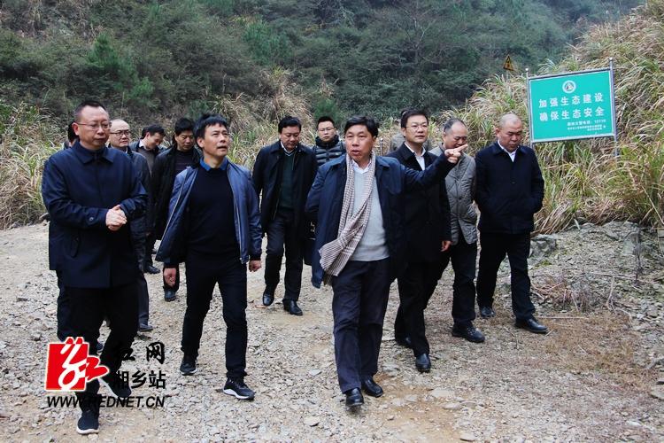 胡长清来湘乡调研国有林场改革和森林防火工作