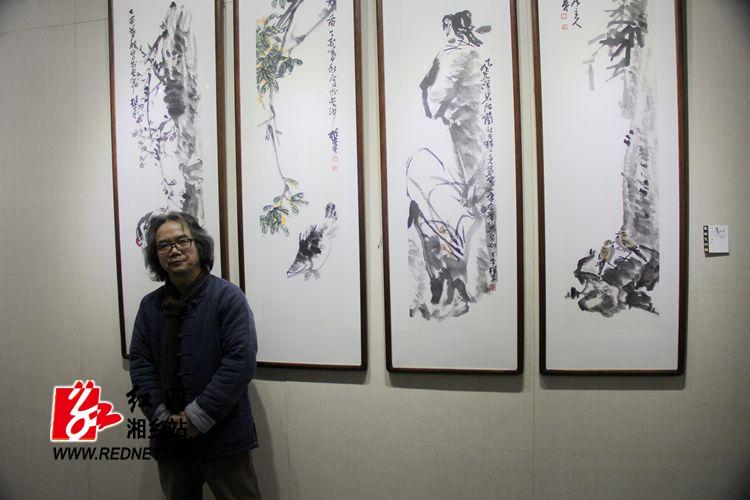 """""""大雅春风""""陈连平中国画作品展在龙城美术馆开展"""