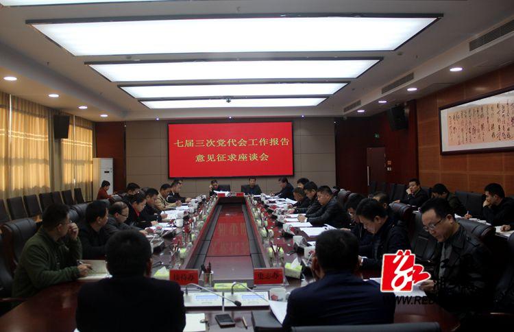 市委广泛征求七届三次党代会工作报告意见