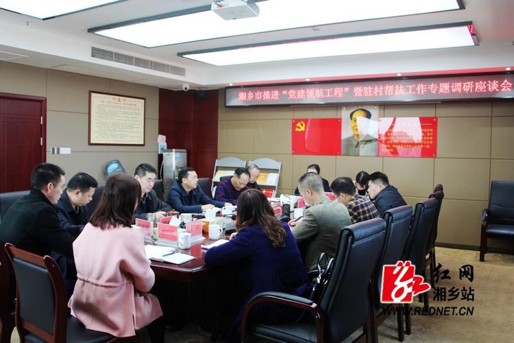 """湘潭市专题调研湘乡""""党建领航工程""""暨驻村帮扶工作"""
