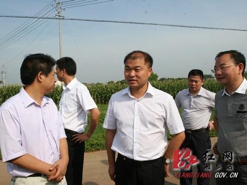 胡海军就城北新区建设现场办公_湘乡网