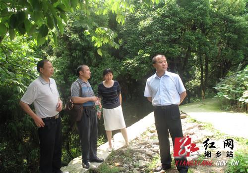 胡海军就东台山国家森林公园建设现场办公